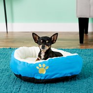 Evelots Small Soft Pet Bed, Blue