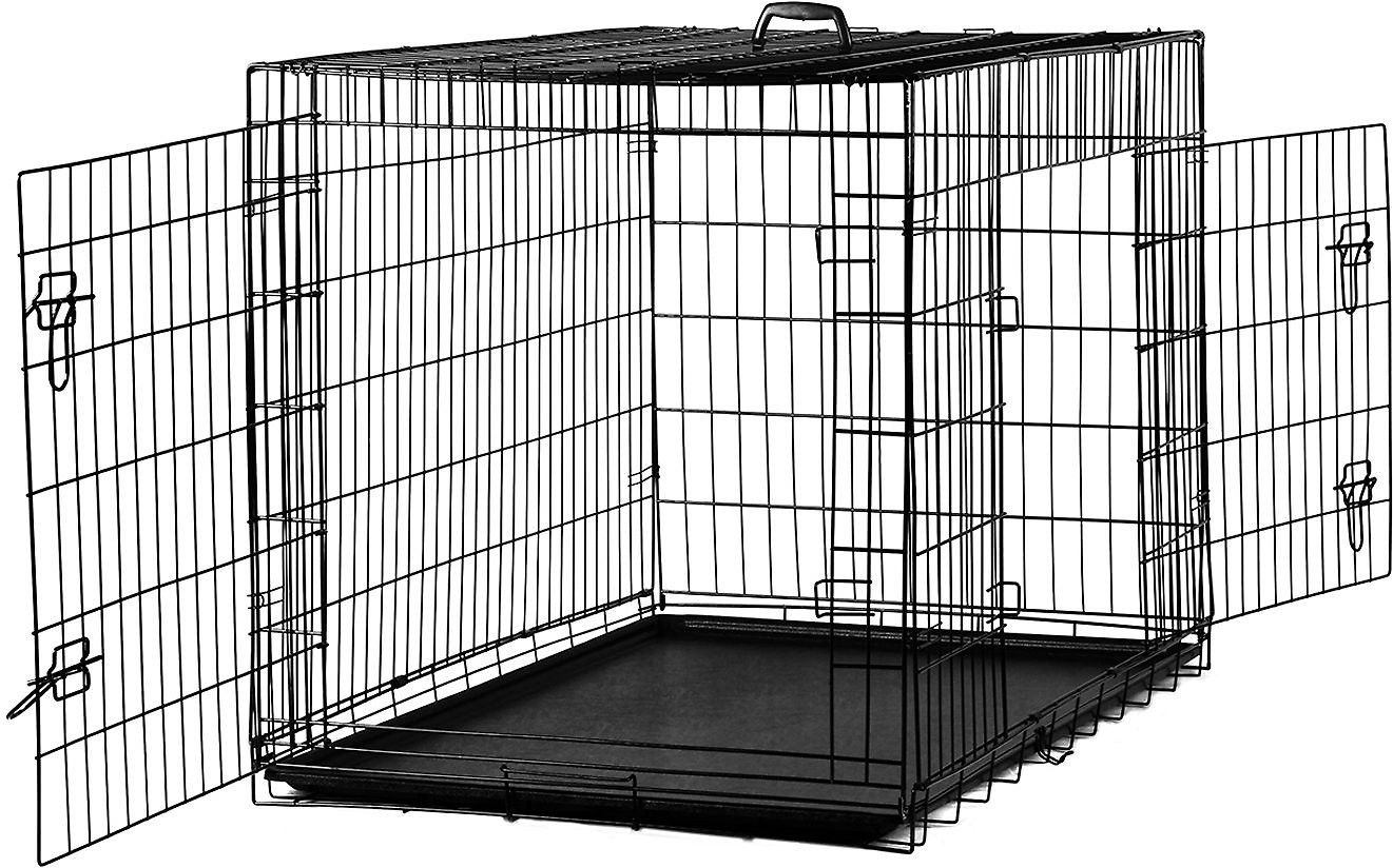 Paws Pals Double Door Folding Wire Dog Crate 24 In Chewy
