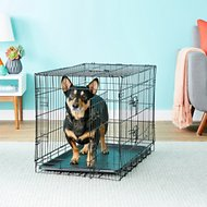 Paws & Pals Double-Door Folding Wire Dog Crate, 30-in