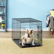 OxGord Double-Door Folding Wire Dog Crate, 36-in