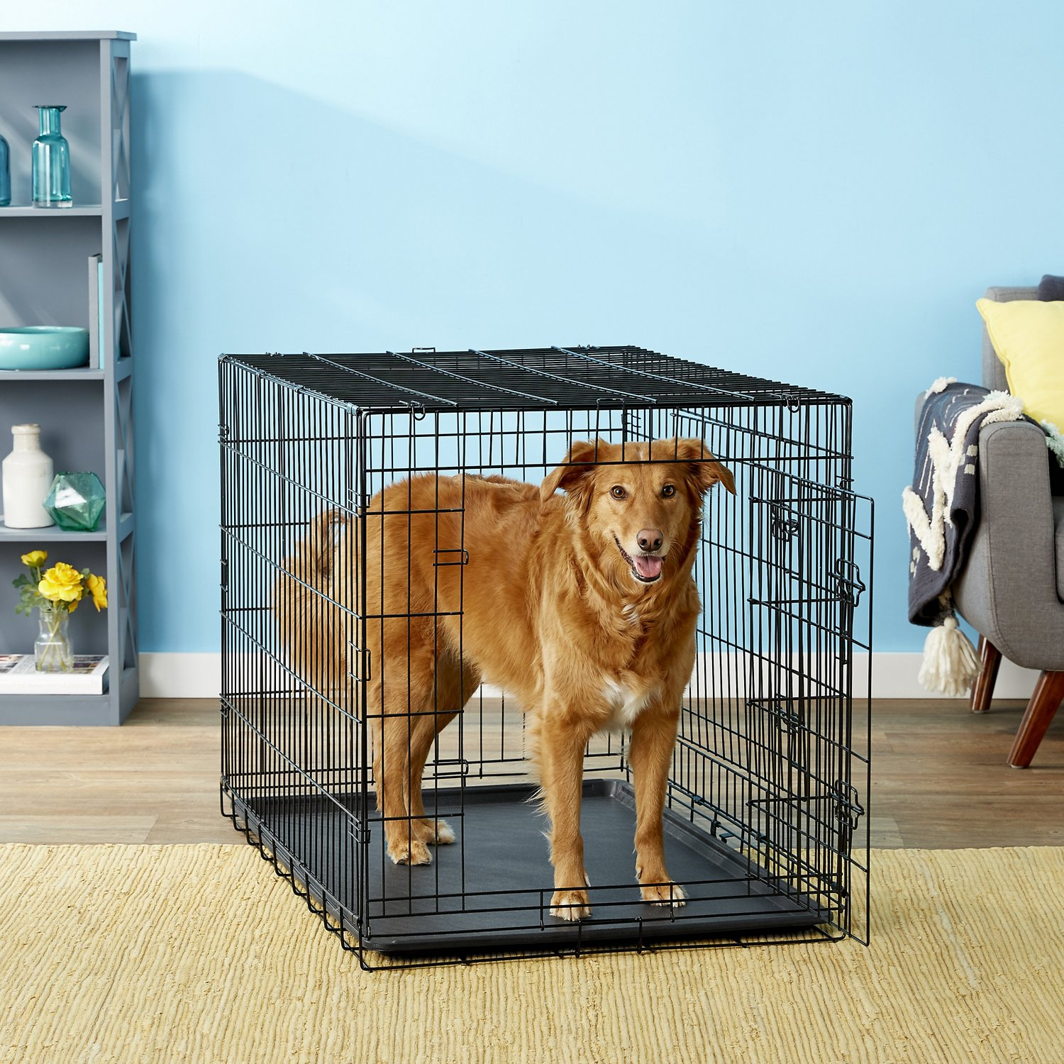 oxgord doubledoor folding heavyduty wire dog crate - Collapsible Dog Crate
