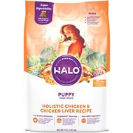 Halo Holistic Chicken & Chicken Liver Recipe Puppy Dry Dog Food, 4-lb bag