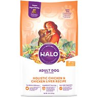 Halo Holistic Chicken & Chicken Liver Recipe Adult Dry Dog Food, 14-lb bag