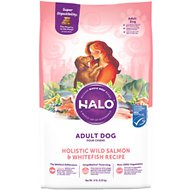 Halo Holistic Salmon & Whitefish Recipe Adult Dry Dog Food, 14-lb bag