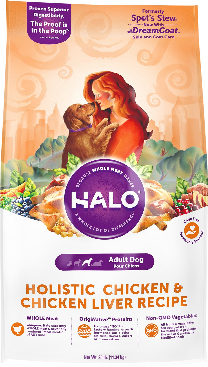 Halo holistic chicken chicken liver recipe adult dry dog food 25 video forumfinder Image collections