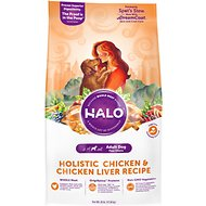Halo Holistic Chicken & Chicken Liver Recipe Adult Dry Dog Food, 25-lb bag