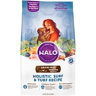 Halo Holistic Surf & Turf Recipe Grain-Free Adult Dry Dog Food, 25-lb bag