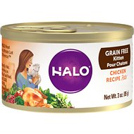 Halo Chicken Recipe Grain-Free Canned Kitten Food, 3-oz, case of 18