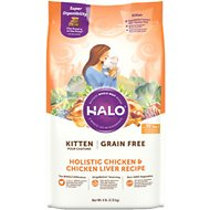 Halo Holistic Chicken & Chicken Liver Recipe Grain-Free Kitten Dry Cat Food, 6-lb bag