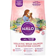 Halo Holistic Wild Salmon & Whitefish Recipe Adult Cat Dry Cat Food, 11.5-lb bag