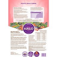 Halo Holistic Wild Salmon & Whitefish Recipe Grain-Free Senior Dry Dog Food, 10-lb bag