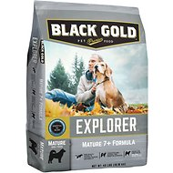 Black Gold Explorer Mature 7+ Formula Dry Dog Food, 40-lb bag