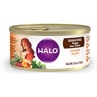 Halo Chicken Recipe Grain-Free Puppy Canned Dog Food, 5.5-oz, case of 12