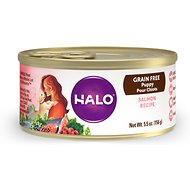 Halo Salmon Recipe Grain-Free Puppy Canned Dog Food, 5.5-oz, case of 12