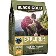 Black Gold Explorer Game Bird Formula with Turkey & Quail Grain-Free Dry Dog Food, 28-lb bag