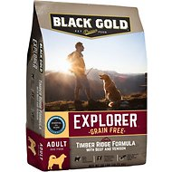Black Gold Explorer Timber Ridge Formula with Beef & Venison Grain-Free Dry Dog Food, 28-lb bag