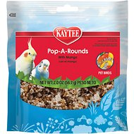 Kaytee Fiesta Pop-A-Rounds Mango Bird Food, 2-oz bag
