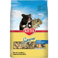 Kaytee Supreme Fortified Daily Diet Hamster & Gerbil Food, 2-lb bag