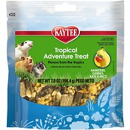 Kaytee Tropical Adventure Treat Blend Hamster, Gerbil, Rat & Mouse Treats, 7-oz bag