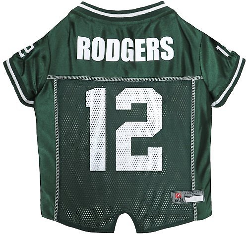9f2689e2 Pets First Aaron Rodgers Mesh Dog & Cat Jersey, X-Small