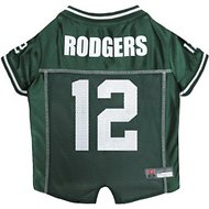 Pets First Aaron Rodgers Mesh Dog & Cat Jersey, Medium