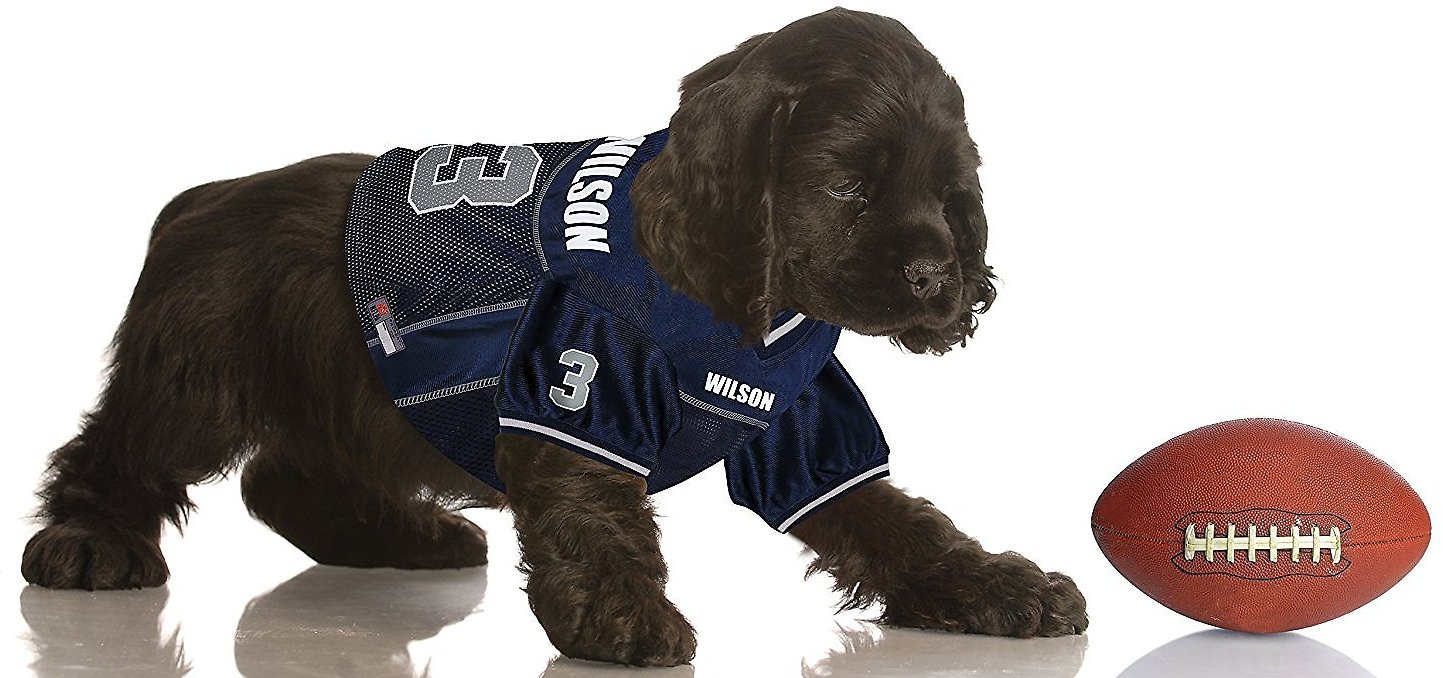 Pets First Russell Wilson Mesh Dog   Cat Jersey 09f398e58