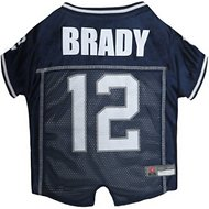 Pets First Tom Brady Mesh Dog & Cat Jersey, Medium