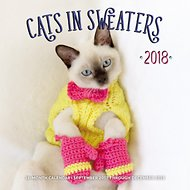Cats in Sweaters 2018 Wall Calendar