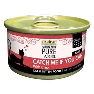 CANIDAE Grain-Free PURE Adore Catch Me If You Can with Crab Canned Cat Food, 3-oz, case of 18