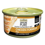 CANIDAE Grain-Free PURE Limited Ingredient Diet Paté with Chicken Canned Cat Food, 3-oz, case of 18