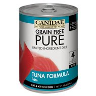 CANIDAE Grain-Free PURE Limited Ingredient Diet Paté with Tuna Canned Cat Food, 13-oz, case of 12