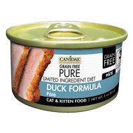 CANIDAE Grain-Free PURE Limited Ingredient Diet Paté with Duck Canned Cat Food, 3-oz, case of 18