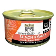 CANIDAE Grain-Free PURE Limited Ingredient Diet Slices with Salmon Canned Cat Food, 3-oz, case of 18