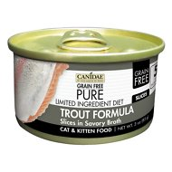 CANIDAE Grain-Free PURE Limited Ingredient Diet Slices with Trout Canned Cat Food, 3-oz, case of 18