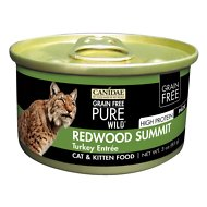 CANIDAE Grain-Free PURE WILD Redwood Summit with Turkey Canned Cat Food, 3-oz, case of 18