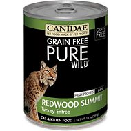 CANIDAE Grain-Free PURE WILD Redwood Summit with Turkey Canned Cat Food, 13-oz, case of 12
