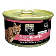 CANIDAE Grain-Free PURE WILD Rushing River with Salmon Canned Cat Food, 3-oz, case of 18