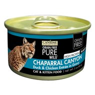CANIDAE Grain-Free PURE WILD Chaparral Canyon with Duck & Chicken Canned Cat Food, 3-oz, case of 18