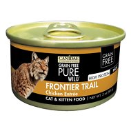CANIDAE Grain-Free PURE WILD Frontier Trail with Chicken Canned Cat Food, 3-oz, case of 18