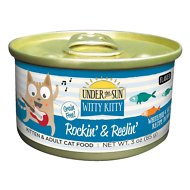Under the Sun Witty Kitty Rockin' & Reelin' Grain-Free with Whitefish & Salmon Canned Cat Food, 3-oz, case of 18