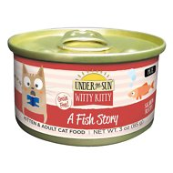 Under the Sun Witty Kitty A Fish Story Grain-Free with Salmon Canned Cat Food, 3-oz, case of 18