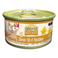 Under the Sun Witty Kitty Birds Of A Feather Grain-Free with Chicken Canned Cat Food, 3-oz, case of 18