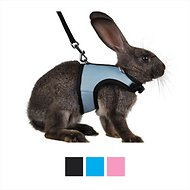Niteangel Adjustable Soft Harness with Elastic Leash for Rabbits, Blue, Medium