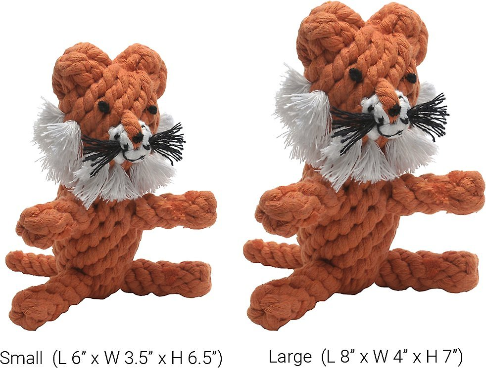 Jax and Bones Timmi the Tiger Rope Dog Toy, Small