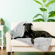 PetFusion Premium Reversible Dog & Cat Blanket, Gray, Large