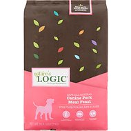 Nature's Logic Canine Pork Meal Feast Dry Dog Food, 26.4 lb bag