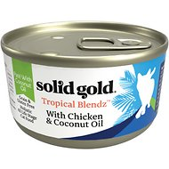 Solid Gold Tropical Blendz with Chicken & Coconut Oil Pate Grain-Free Canned Cat Food, 3-oz, case of 12