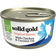 Solid Gold Tropical Blendz with Chicken & Coconut Oil Pate Grain-Free Canned Cat Food, 6-oz, case of 8