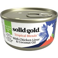 Solid Gold Tropical Blendz with Chicken Liver & Coconut Oil Pate Grain-Free Canned Cat Food, 3-oz, case of 24