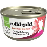 Solid Gold Tropical Blendz with Salmon & Coconut Oil Pate Grain-Free Canned Cat Food, 3-oz, case of 12